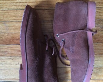 Vintage Esprit Brown Suede Ankle Booties (90's)