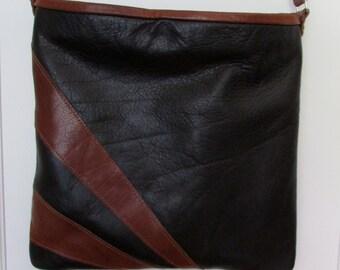 Leather cross body bag.