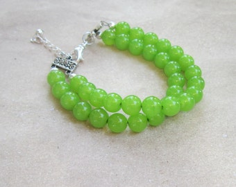 Lime Green Bracelet, Lime Green Jewelry, Lime Jewelry, Gift for Bridesmaids, Gifts for Her, Spring Jewelry, Chunky Bracelet, Its Not Easy
