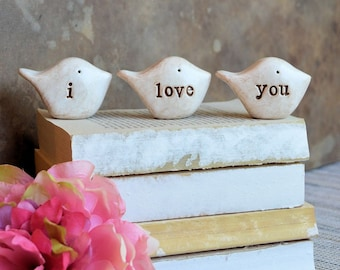 Gifts for her / i love you birds decor / gift for mom mother sister wife girlfriend grandma