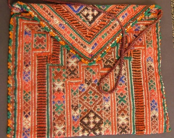 VintagePakistani woven bag, good condition, 9 x 11 inches