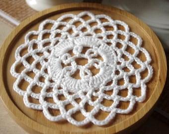 Crochet doilies Small crochet doily White doily Lace doilies Small crochet doilies Centerpiece coaster 217