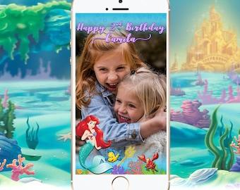 The Little Mermaid Snapchat Geofilter, Princess Ariel Snapchat Geofilter, Little Mermaid Birthday, Ariel Decor, Little Mermaid Party