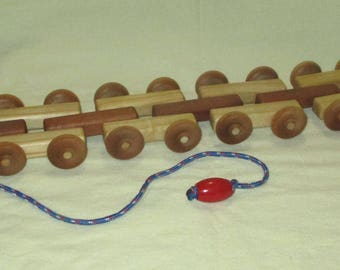 Handmade Pull Toy for Toddlers, hardwood