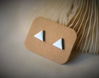 Boucle d'oreille en acier inoxydable, boucle d'oreille TRIANGLE brillant ~ 8 mm - unisexe / Casual / Hipster