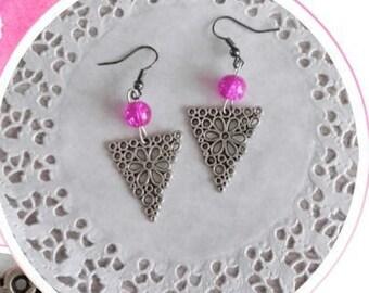 Dangle earrings pierced