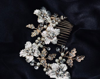 GAROFANO- Bridal Hairpieces- Two Pieces