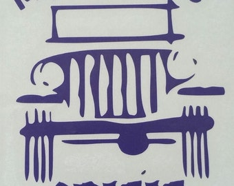 My Mid-Life Crisis Jeep Vinyl Vehicle Decal You Choose Color