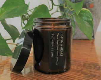 Aromatherapy Soy Candle 'Lemongrass & Lime' 150gm