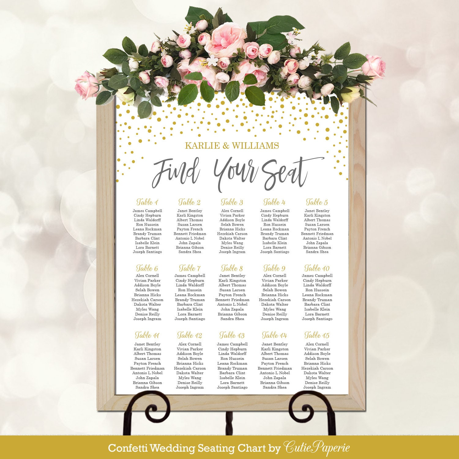wedding seating chart template table seating chart printable