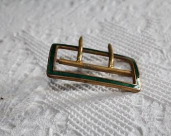 Sale: ART NOUVEAU -antique emaille belt lock, green
