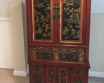 Chinese Antique Armoire Storage Cabinet
