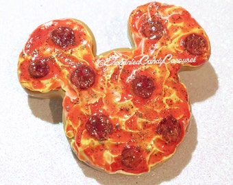 Pizza Slices or Mickey Inspired Pizza Earrings Brooch or Pendant All Styles Available