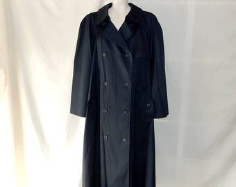 Sz 22 24 Belted Trench Coat -Navy Blue - Raincoat - Plus  Size 3X - Double Breasted -