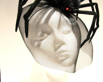 Black Spider Fascinator- Spider Costume- Halloween Headband- Black Widow- Black Halloween Fascinator -Made in USA- Halloween & Spider costume | Etsy