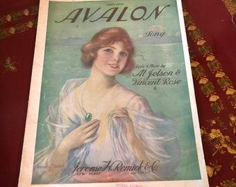 Avalon Song Sheet Music (Operatic Edotion)