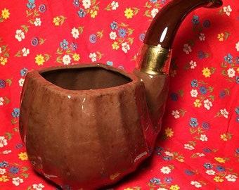 Vintage Relpo Ceramic Pipe Planter