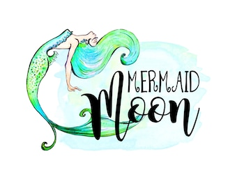 mermaid logo etsy rh etsy com mermaid logos for business mermaid logo swimsuit