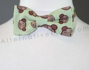Children's Mint Green Monkey Bowtie