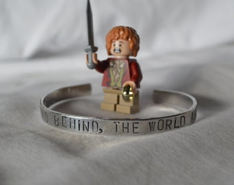 """Bracelet: """"Home is behind, the world ahead"""" from LOTR by Tolkien"""