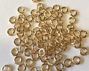 Solid 14K Gold 19 Gauge Open Jump Ring Top Quality (5 Pcs)