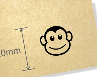 Clear Acrylic Stamp. Monkey Face