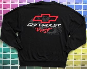 Vintage Chevrolet sweatshirt S men | Chevrolet racing | Chevy shirt women vintage L | Chevy car emblem | 1995 copyright | 1990s crewneck