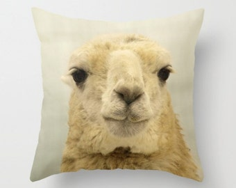 Llama Pillow Cover Natural History White Llama Woodland Forest Sweet Pillow Cover Kids Decor