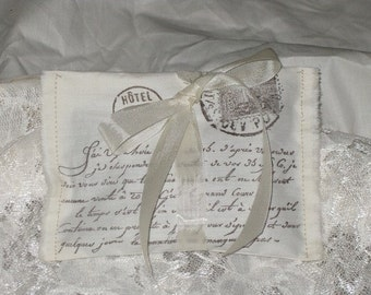 Vintage Paris Sachet Handmade and Hand Stamped Filled with Provance Lavender Ooh La LaFrom marie1204
