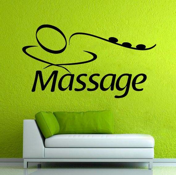 Spa vinilo Decal masaje pared vinilo pegatina signo Spa salón
