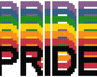 Counted Cross Stitch Pattern PRIDE