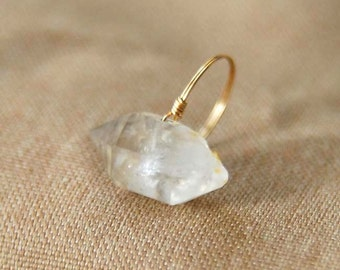 natural crystal ring crystal quartz ring natrual stone jewelry personalized ring wholesale Christmas gift