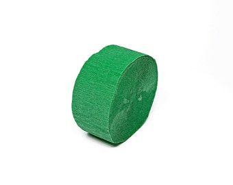 Emerald Green Crepe Paper Streamer Roll - 81 Feet Long - Paper Craft Party Supplies