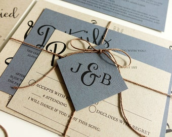 Reserved for Kat Brandmeier, Balance of Sending Envelopes Ahead, Angled Script Wedding Invitations and Accessories
