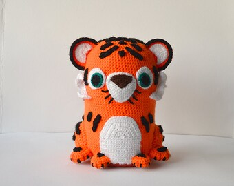 Tiger Crochet Pattern, Amigurumi Tiger Pattern, Tiger Amigurumi Pattern, Crochet Tiger Amigurumi Pattern, Zoo Animal Crochet Pattern, Jungle