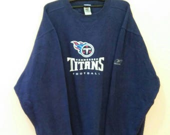REEBOK TENNESSEE TITANS Football spellout pullover blue colour Xlarge size