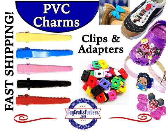 PVC Adapters & Hair Clips, * 99cent Shipping * For PVC Charms