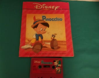 Disney Vintage Read-A-Long Book and Tape Pinocchio
