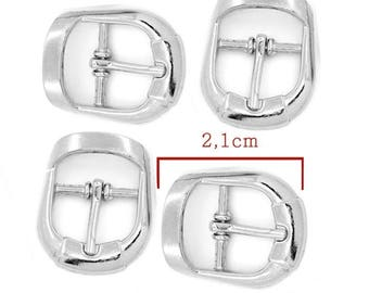 Silver loop pattern small: 21x17mm set 4 Pieces