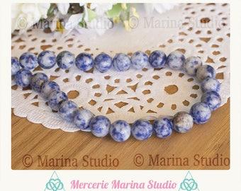 Sodalite natural 8mm - semi precious beads 10 beads