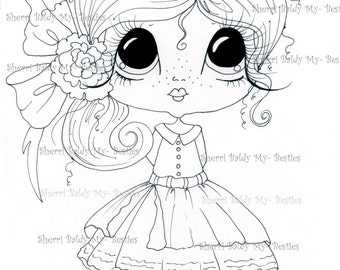 INSTANT DOWNLOAD Digital Digi Stamps Big Eye Big Head Dolls Img432 My Besties By Sherri Baldy