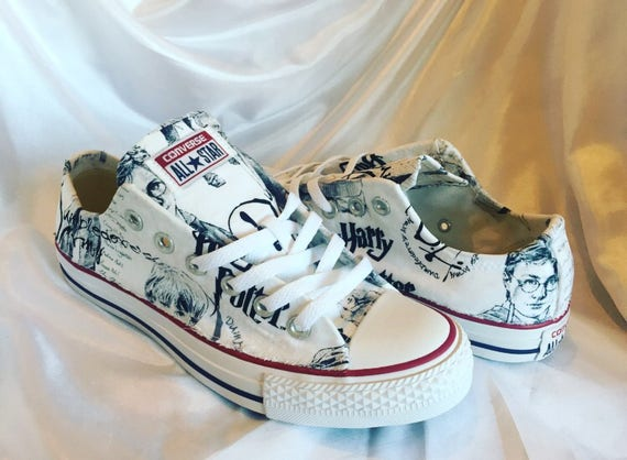 fetching how to design converse shoes at home. Harry Potter Converse  Shoes