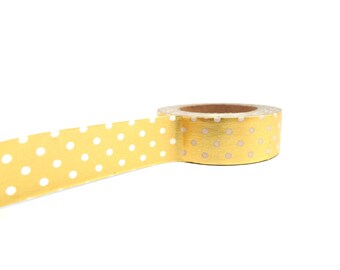 Polka Dot Washi Tape - Gold Washi Tape