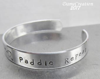 Engraved Quote Jewelry Gifts, Kayaking Jewelry Gifts, Worry Less Paddle More, Kayak Birthday Gift for Women Jewelry, Kayak Lovers Gift