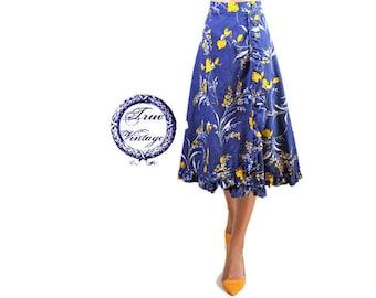 True vintage romantic ruffle wrap skirt skirt Volantrock Midirock new Gr. 40 42