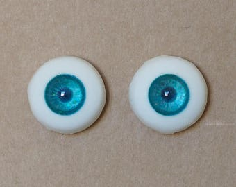 18mm Moonteahouse (Mth) Eyes - Handmade Blue / Green Resin Eyes for BJD, ABJD and Dolls [17052]