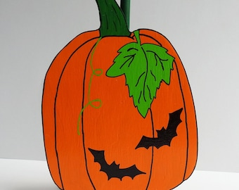 Pumpkin and Bats Paper Towel Holder Halloween Pumpkin with Bats Towel Holder