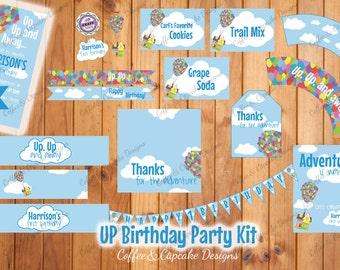 UP Birthday Party Kit | UP Birthday Decorations | First Birthday Decorations | DIY Printable Party Kit
