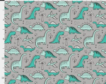 Baby Bedding Crib Bedding - Dinosaur, Teal, Mint, Gray, Baby Boy - Baby Blanket, Crib Sheet, Changing Pad Cover, Boppy Cover