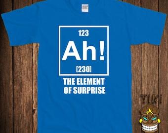 funny chemistry t shirt science geek nerd tshirt tee shirt ah the element of